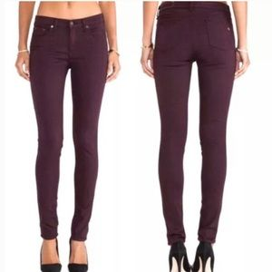 Red Wine Rag & Bone Skinny Jeans